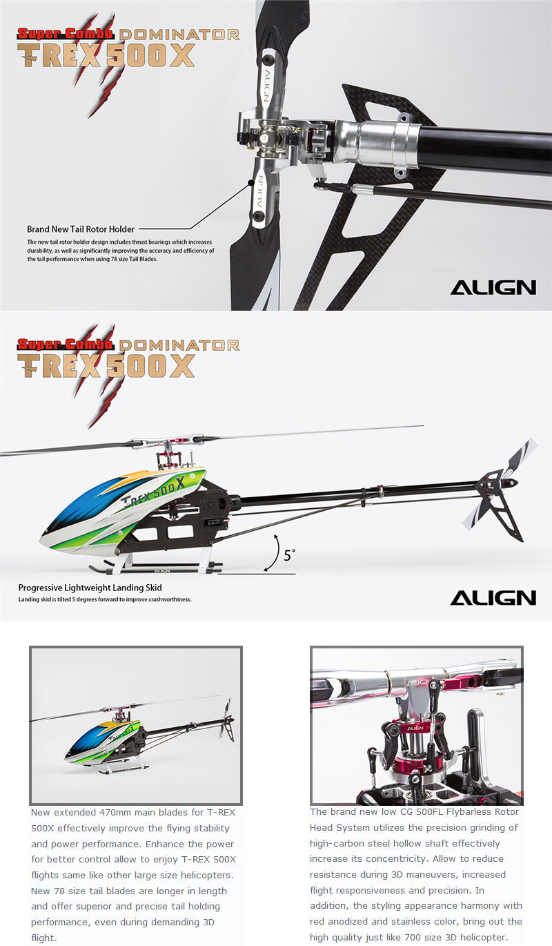 ALIGN T-REX 500X Helicopter Dominator Super Combo  - Photo: 5