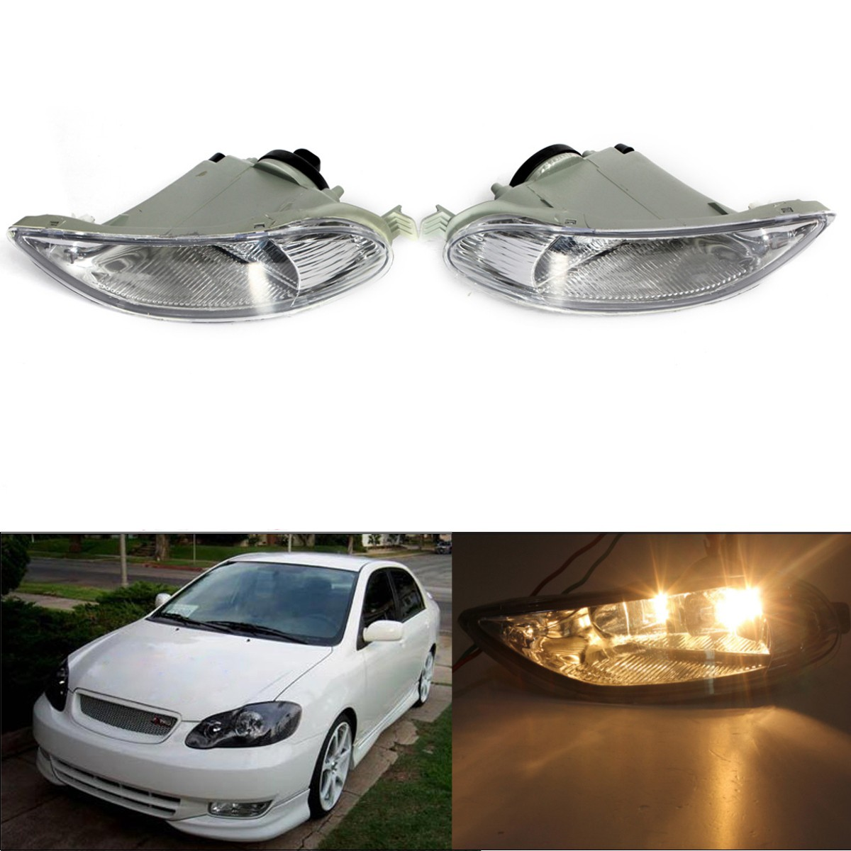 Car Bumper Fog Lights Front Lamps Left Right For Toyota