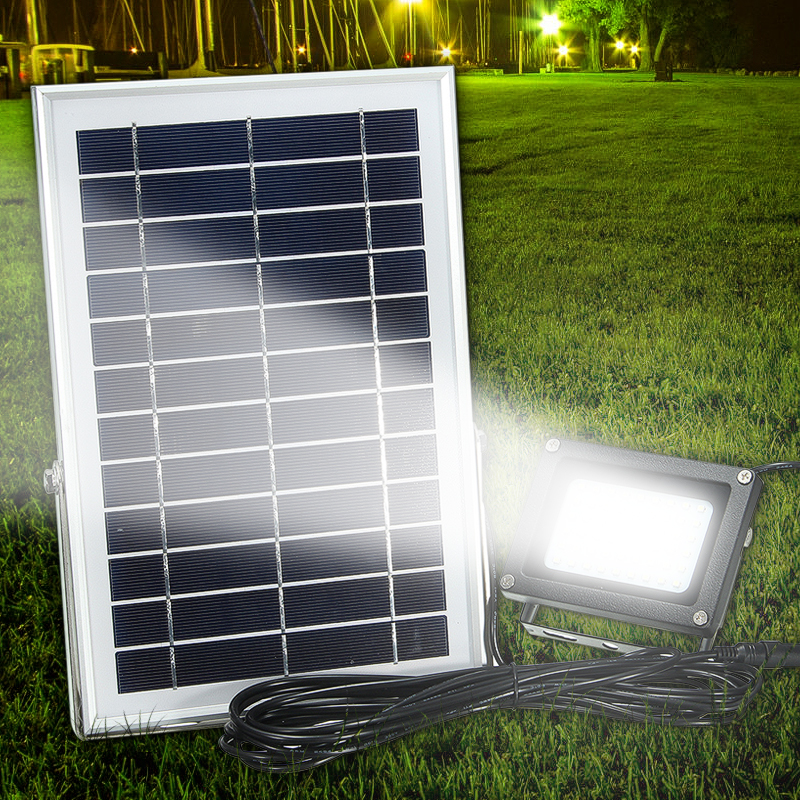 Outdoor Flood Light Solar: Solar Powered 54 LED Waterproof Outdoor Security Panel