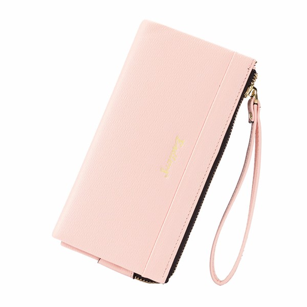 Women Zipper Long Wallet Girls Candy Color Clutches Bags Card Holder Coin Bags 5.5'' Phone Purse