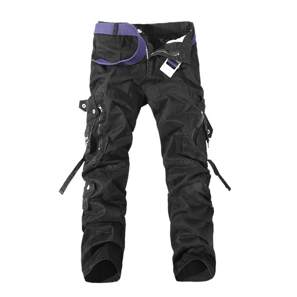 Mens Cargo Pants Multi Pockets Casual Cotton Pants Work Overalls ...