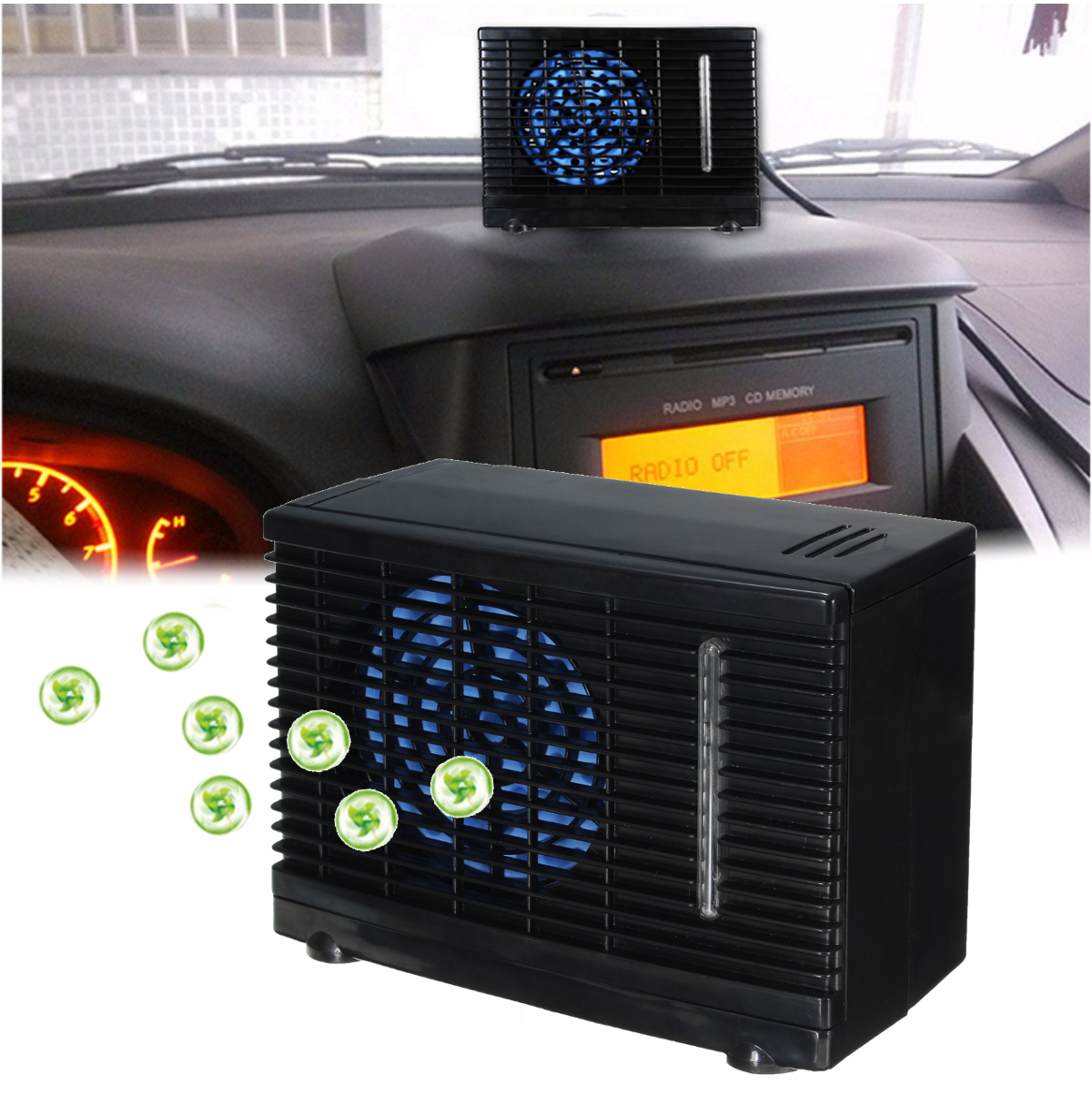 Fan That Blows Cold Air >> 12V Portable Home Car Cooler Cooling Fan Water Ice ...