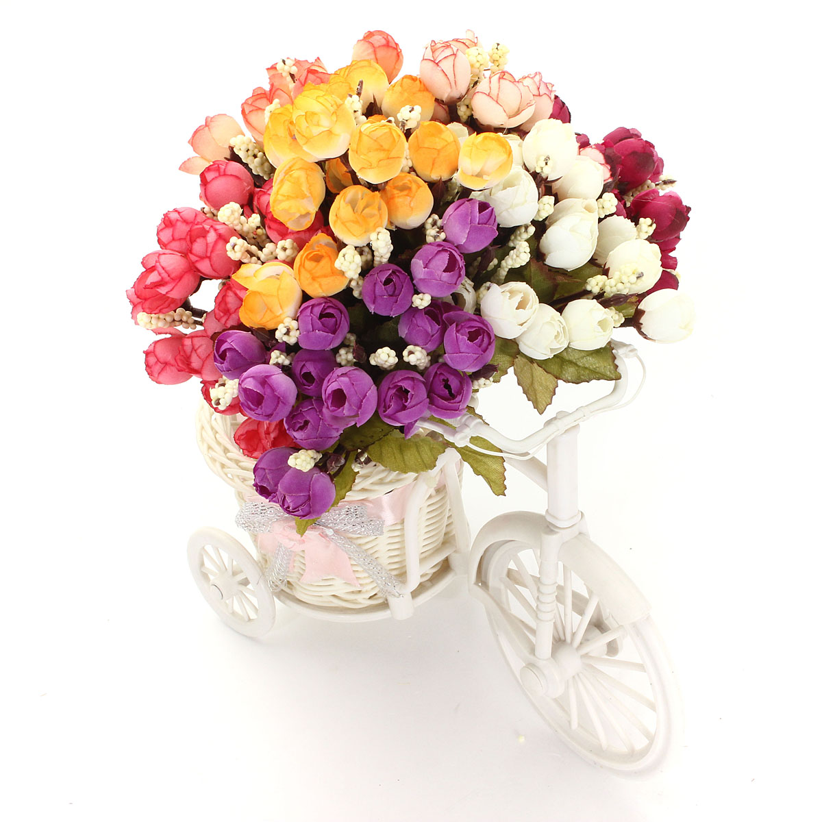 15 Heads Artificial Rose Silk Flower Bonquet Home Wedding Party Bridal Decoration