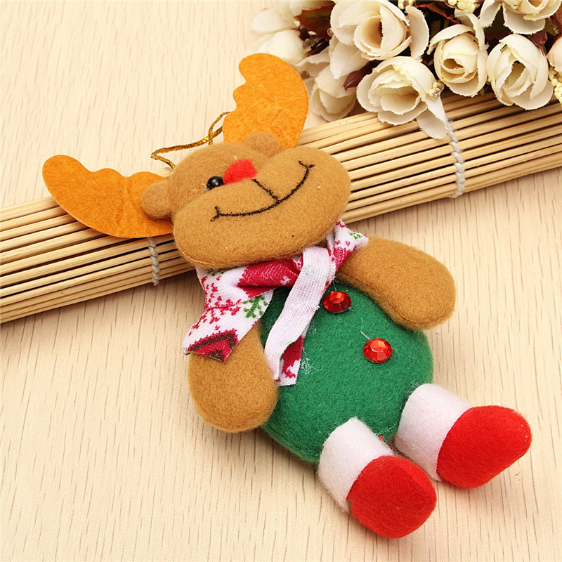 Snowman Bear Elk Ornament Christmas Classical Tree Decoration Home Decor - Photo: 4