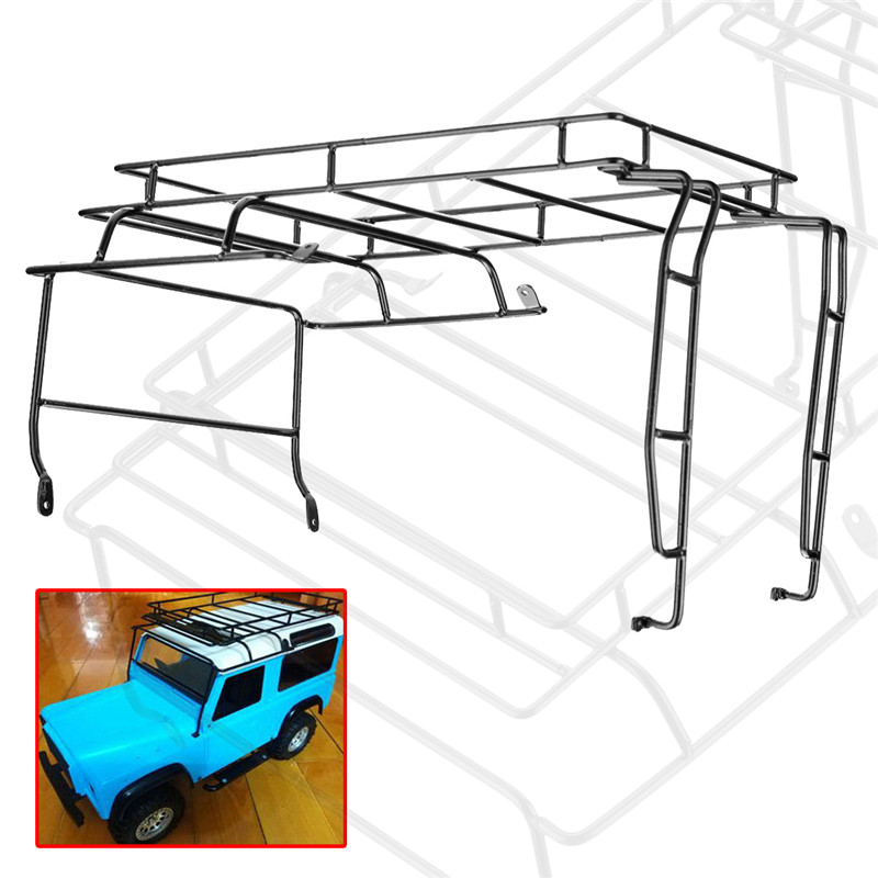 1/10 RC Car Parts Crawler Metal Roof Luggage Stand Rack For Land Rover/RC4WD D90 Wrangler