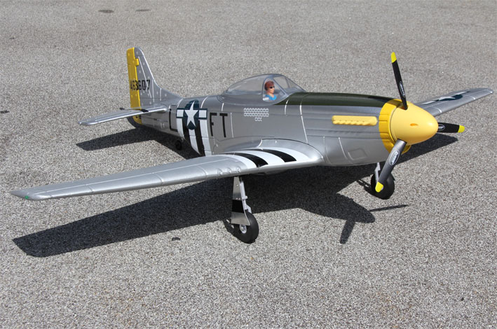 Dynam P-51D Mustang V2 Silver 1200mm Wingspan EPO Warbird RC Airplane PNP