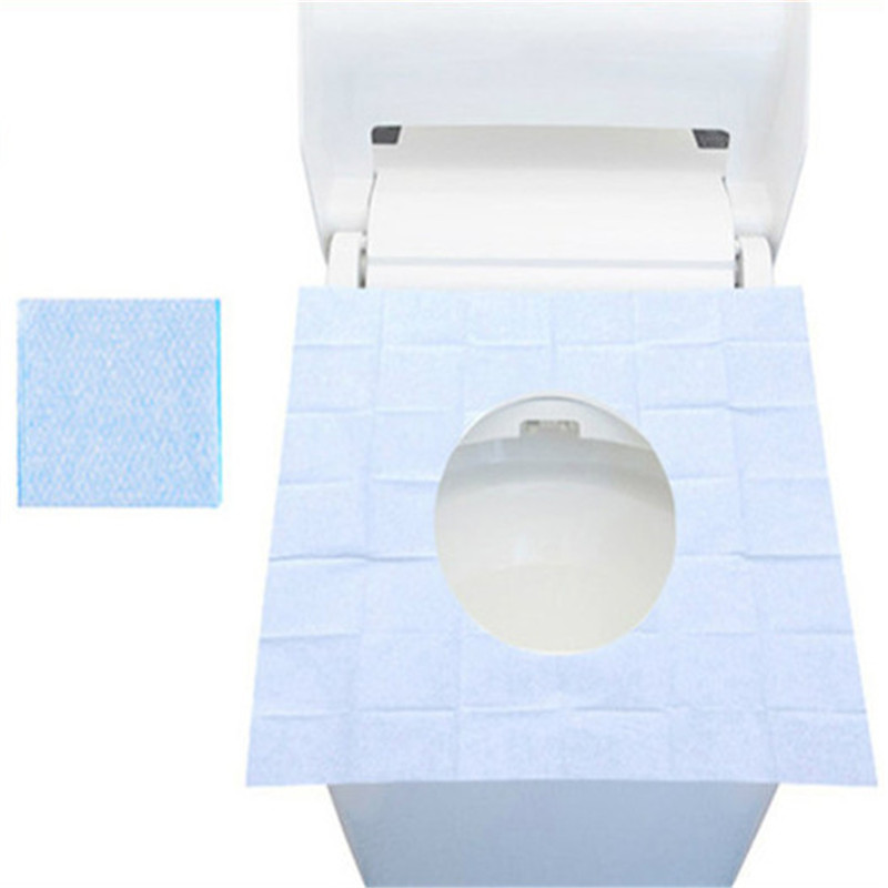 Mrosaa 10PCS Disposable Toilet Seat Covers Mats Portable Waterproof Safety Toilet Seat Pads