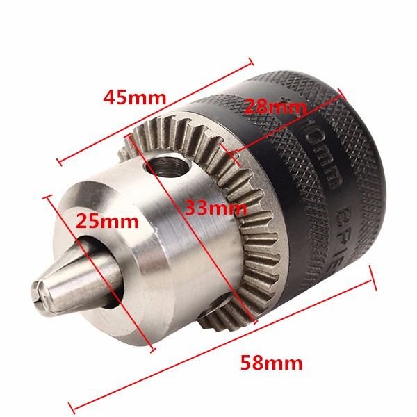 1 10mm Metal Stable Keyed Drill Chuck Convertor 100 Angle