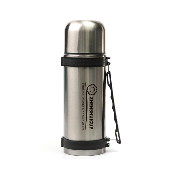 1.2L Large Outdoor Stainless Steel Travel Mug Thermos Vacuum Flask Bottle With Cup