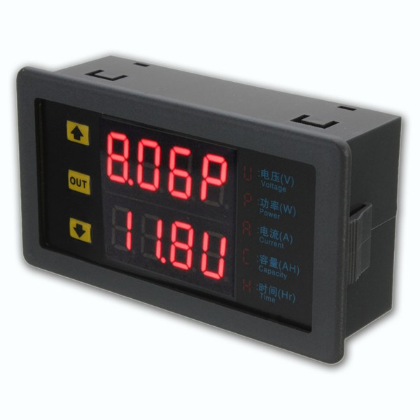 Backup Battery For Amp Meter : Digital combo meter volt amp power ah hour battery
