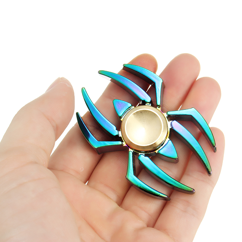 Spider Shape Colorful Fidget Hand Spinner ADHD Autism Reduce Stress Focus Attention Toys