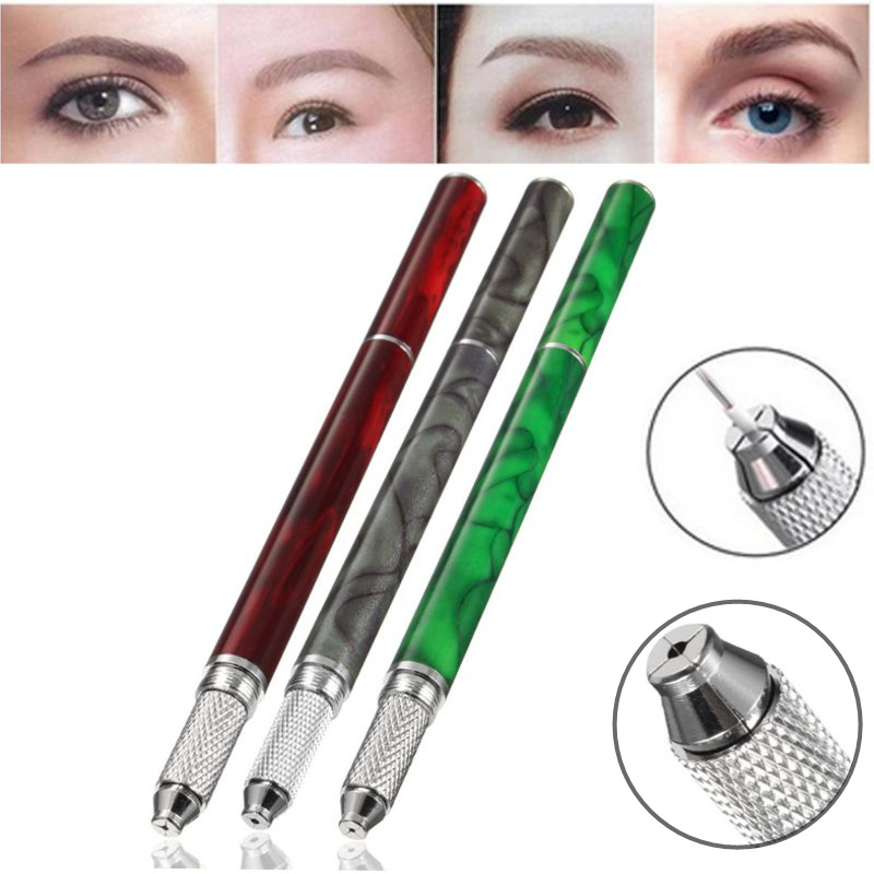 Buy Single Head Stainless Steel Fogging Embroidered Eyebrow Tattoo Pen Permanent Make-up