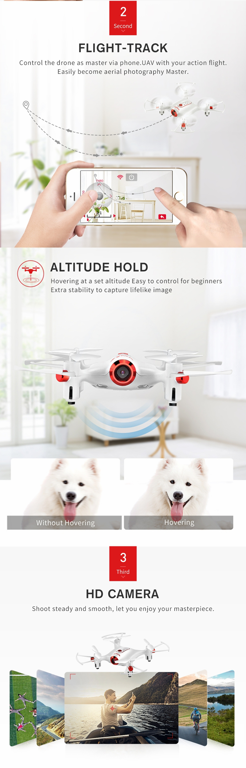 SYMA X20W WiFi FPV with 0.3MP Camera High Hold Mode Waypoint 2.4G 4CH 6-aixs RC Drone Quadcopter