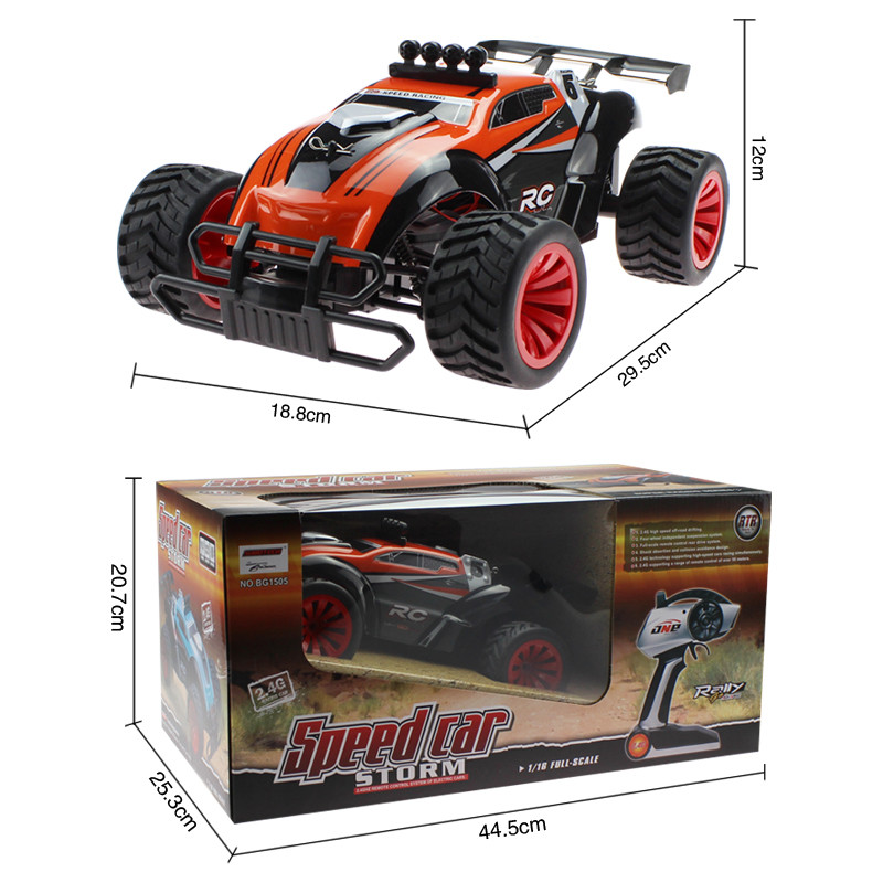 BG1505 2.4G 1/16 4WD High Speed RC Car Drift Off-Road Racing Truck With Light Toys