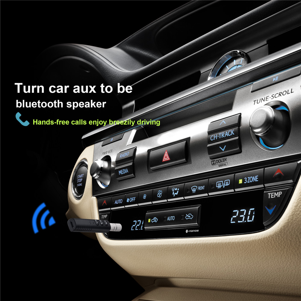 bakeey bluetooth aux car kit wireless audio adapter receiver for phone tablet speaker car. Black Bedroom Furniture Sets. Home Design Ideas
