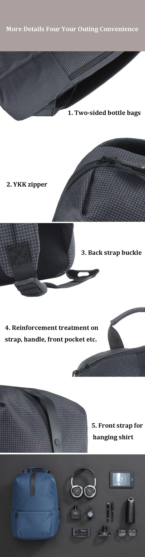 b500fd232523 More Detailed Photos  Xiaomi 20L 15.6 inch Laptop Backpack Men Women Leisure  Travel Waterproof ...
