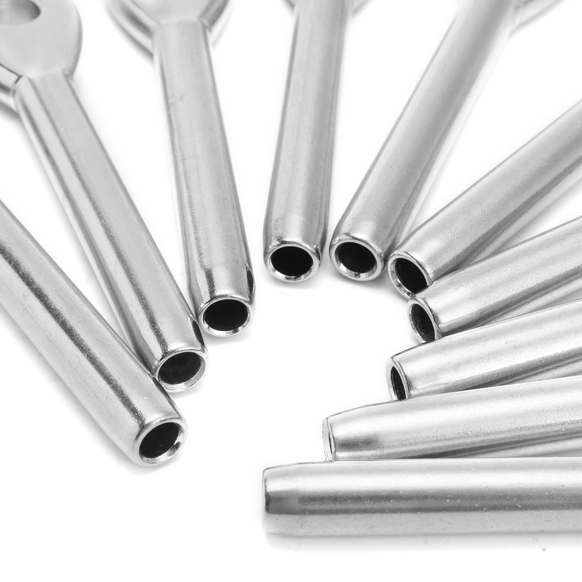 10Pcs T316 Stainless Steel Swage Eye Terminal for 3/16 Inch Cable ...