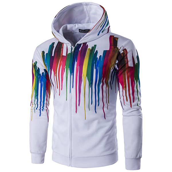 Mens Fashion 3D Printing Hoodie Sweatshirt Colorful Sport Casual Sweatshirt
