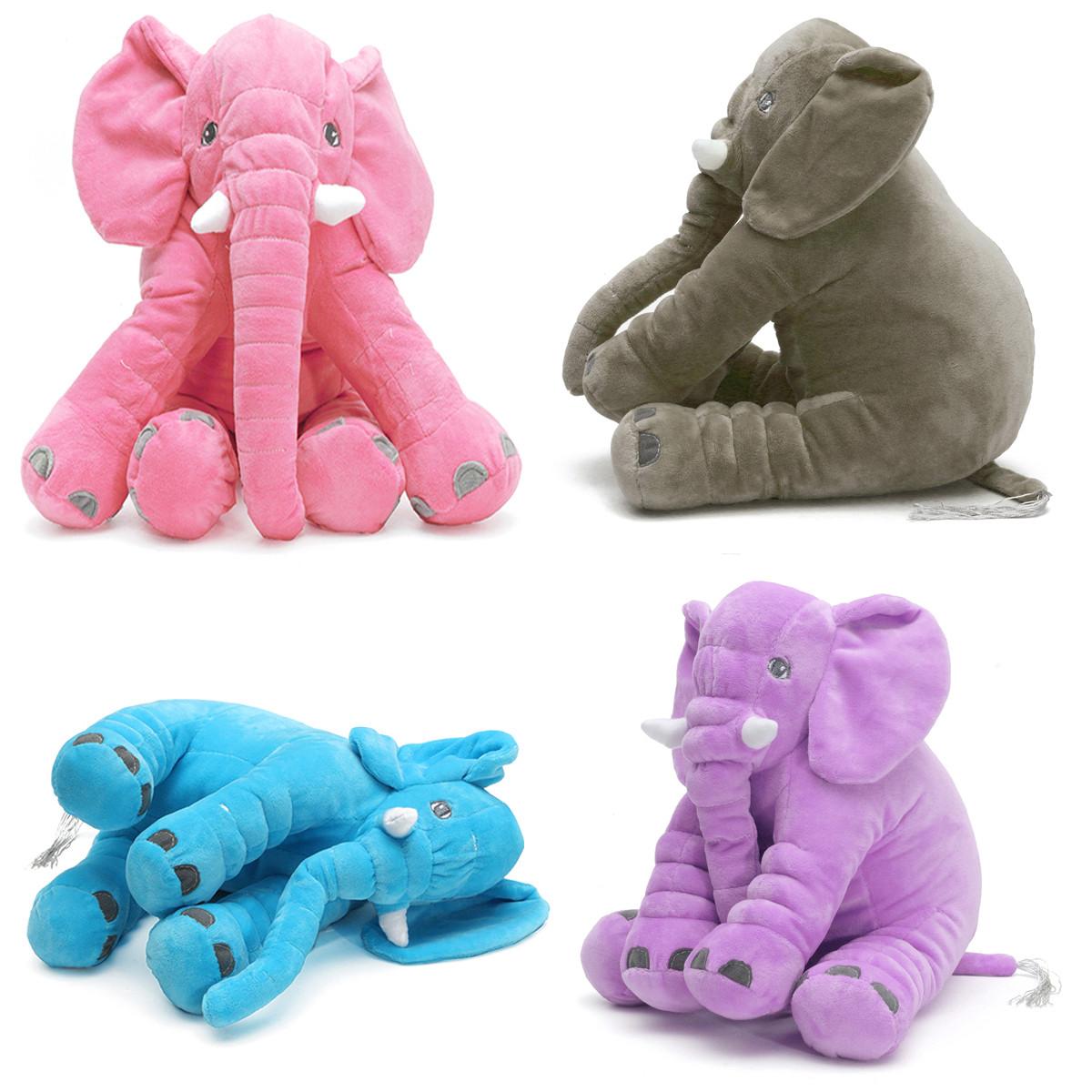 b b enfants enfants doux en peluche l phant sommeil oreiller enfants lombaire coussin jouets. Black Bedroom Furniture Sets. Home Design Ideas