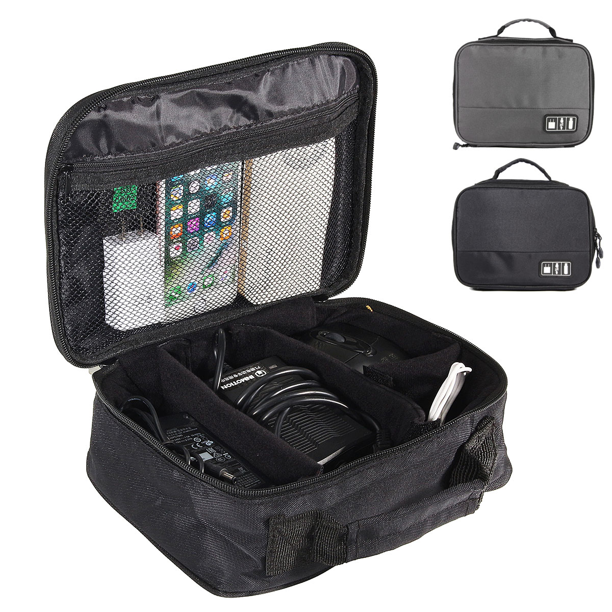 Buy IPRee™ Portable Travel Electronic Accessories Storage Bag Case USB Cable Charger Organizer Pouch