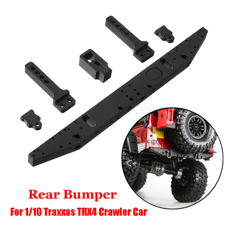 GRC Aluminum Alloy Classic Rear Bumper For 1/10 Traxxas TRX4 TRX-4 RC Crawler Car Parts