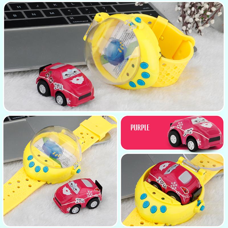 Mini 4 Channels Smart Watch G-Sensor Control RC Cars Toys For Children
