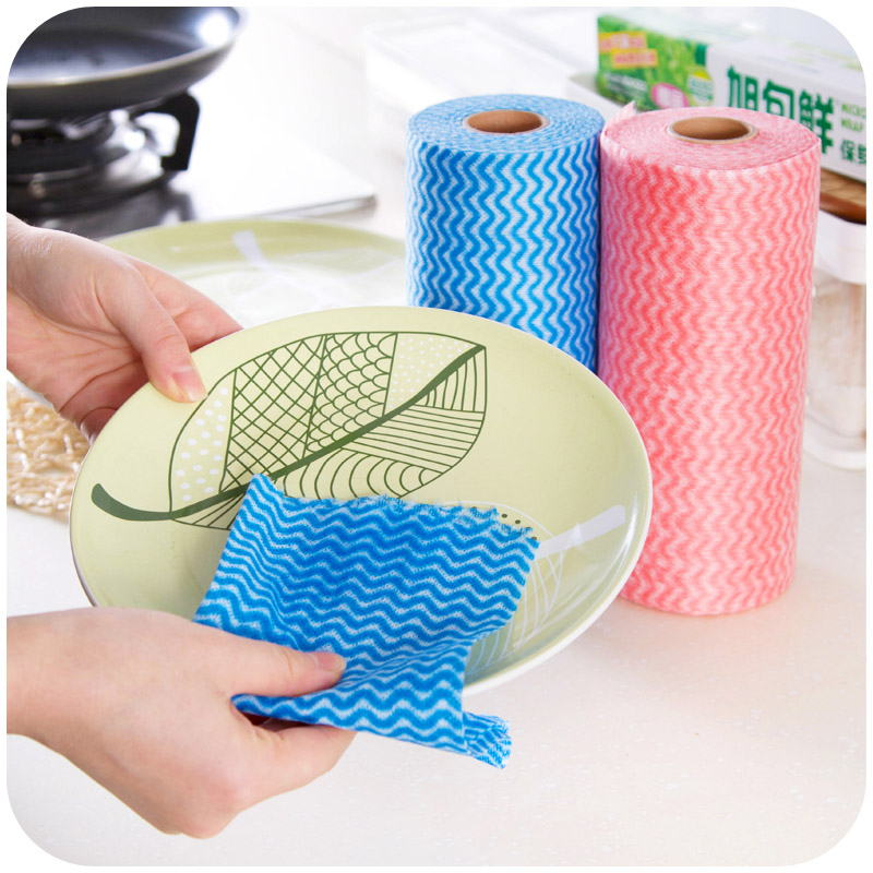Buy Kitchen Cleaning Nonwoven Cloth Disposable Bowl Washing