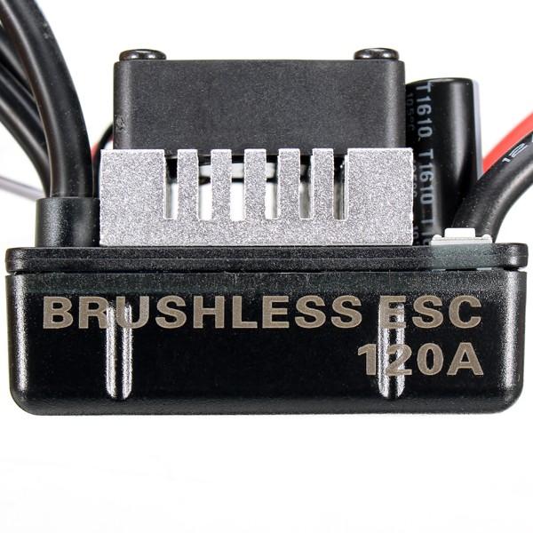 Racerstar 120A ESC Brushless Waterproof Sensorless 1/8 RC Car Part - Photo: 3