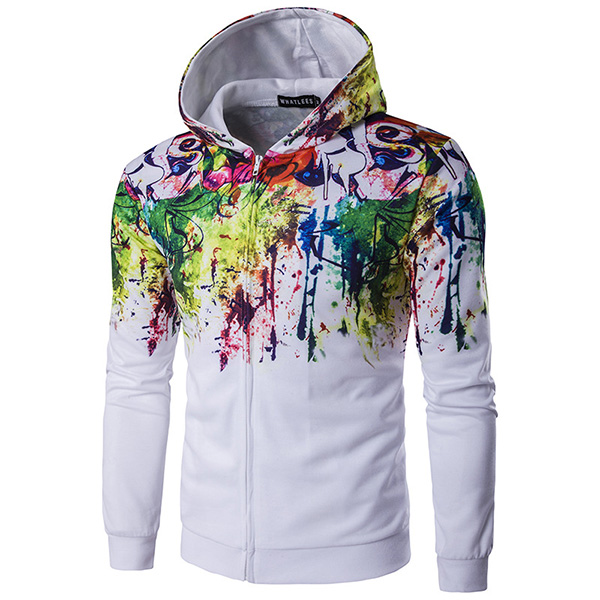 Buy Mens Fashion Colorful 3D Printing Hoodies Sweatshirt Casual Long Sleeve