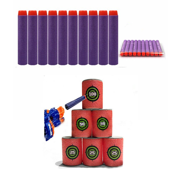 100PCS Purple Refill Bullets Dart For Nerf N-strike Elite Rampage Retaliator Series  - Photo: 1