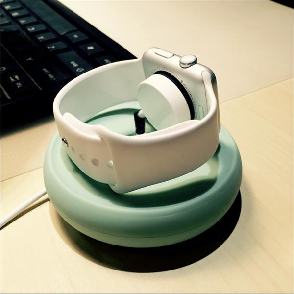 Portable Bright Stone Charging Dock Stand Mount Holder Cable Organizer For Apple Watch iwatch
