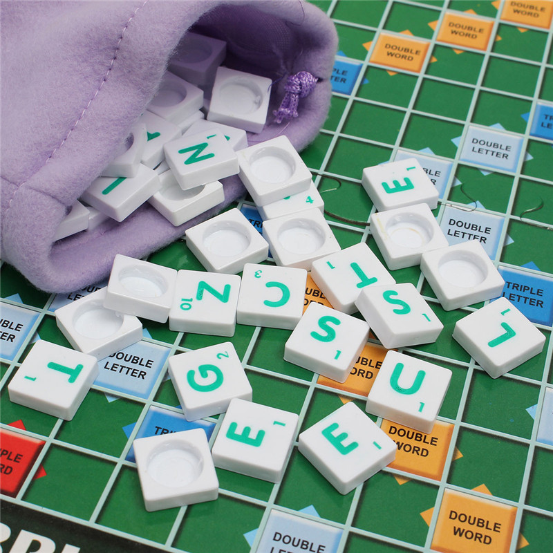 Scrabble Board Game Brand Crossword Game Letters Tiles For Family Kids Friends Junior Travel - Photo: 3