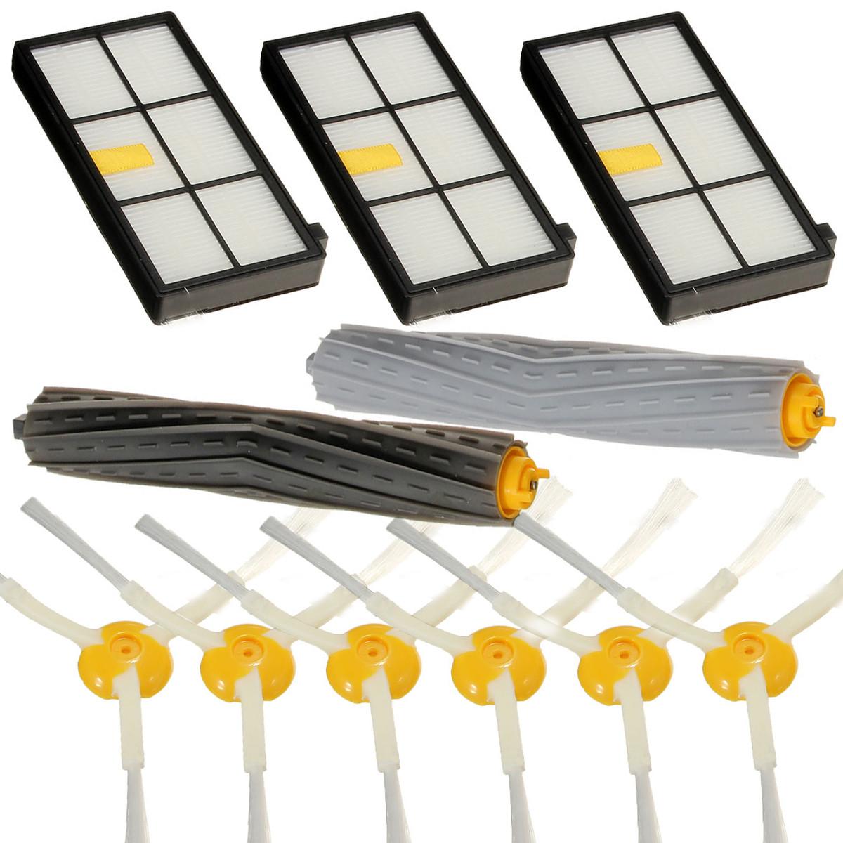 pcs vaccum filtros limpios kit de paquete de cepillo para iRobot Roomba