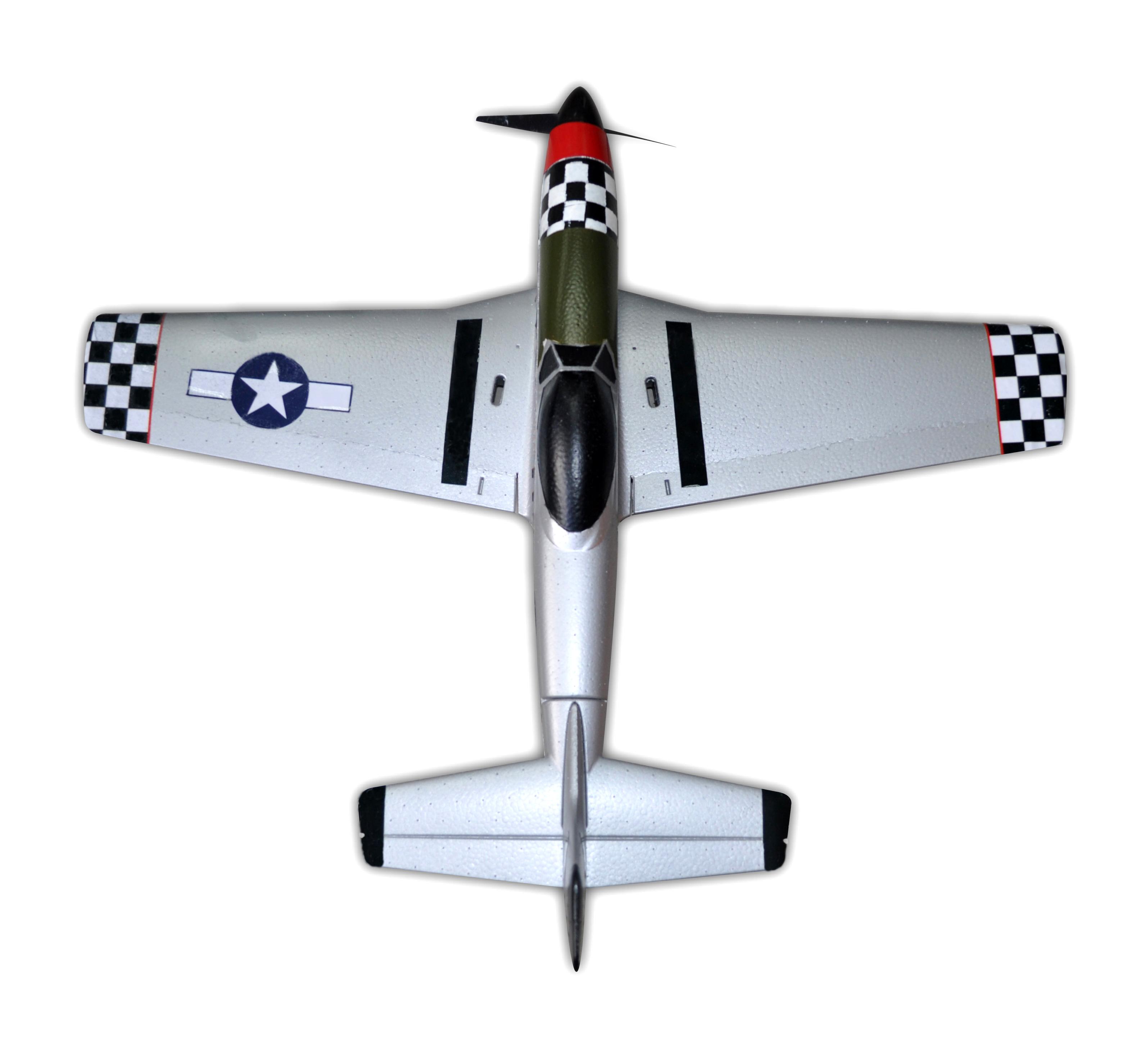 P-51 650mm Wingspan EPO RC Airplane Warbird Funfighter Brushless Version PNP  - Photo: 3