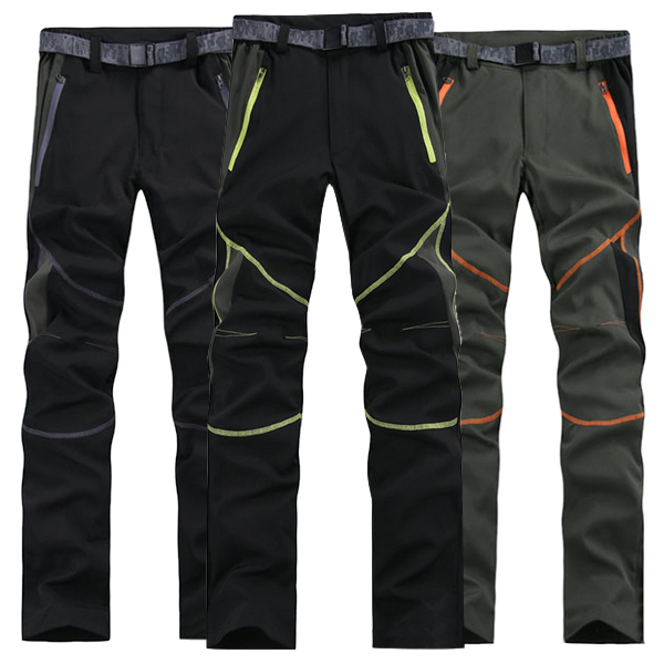 Mens Spring Outdoor Quick-drying Stitching Sport Pants Waterproof Breathable Climbing Trousers