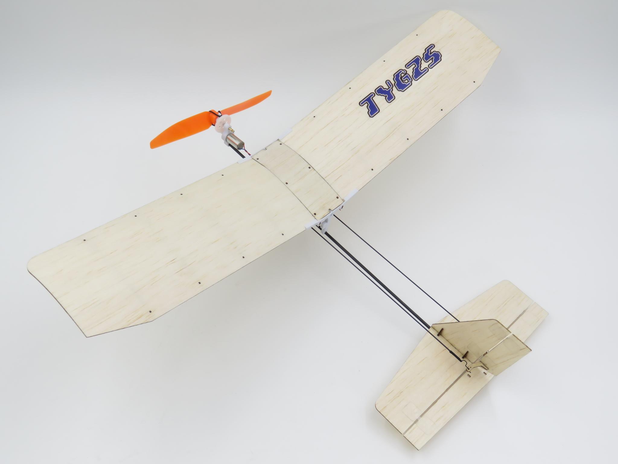 TY Model 3-3 370mm Wingspan Balsa Wood Laser Cut RC Airplane KIT - Photo: 2