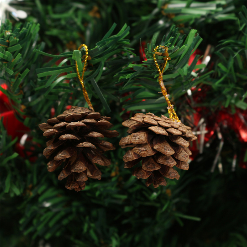 23PCS Christmas Tree Hanging Decoration Presents Santa Apples Bowknot Ornaments - Photo: 7