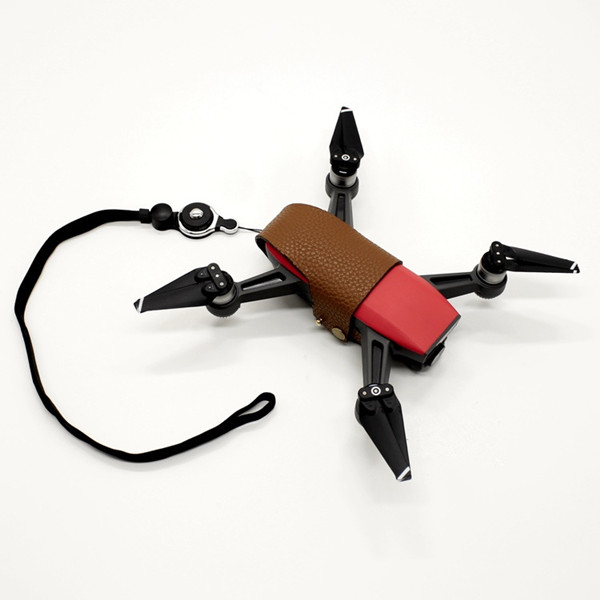 Portable Decorative Handmade Leather Lanyard Neck Rope Storage Sets For DJI Spark