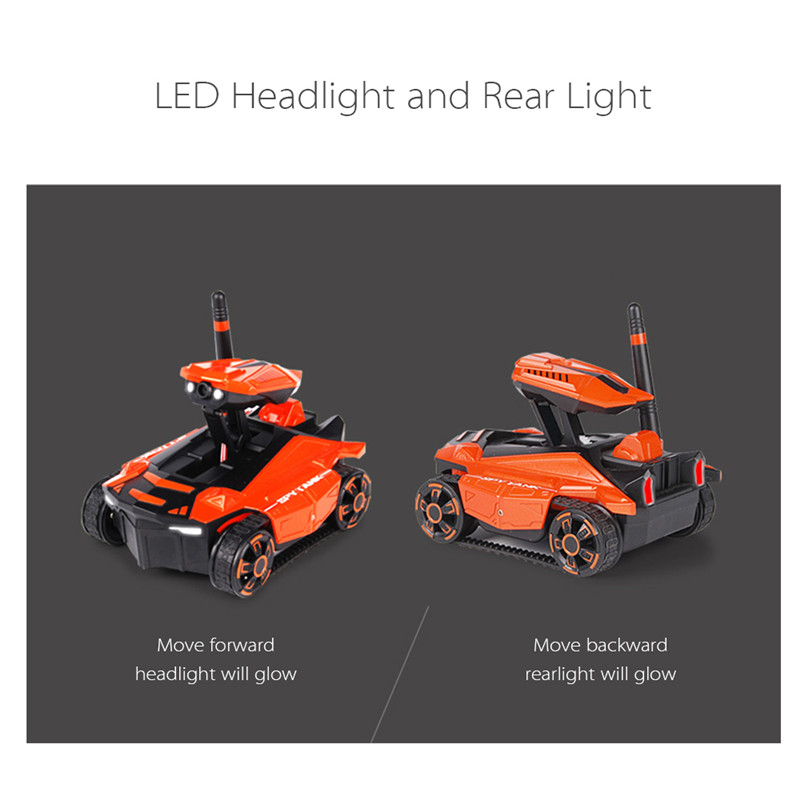 RC Tank YD-211 Wifi FPV 0.3MP Camera App Remote Control Spy Toy Phone Controlled Robot Toys