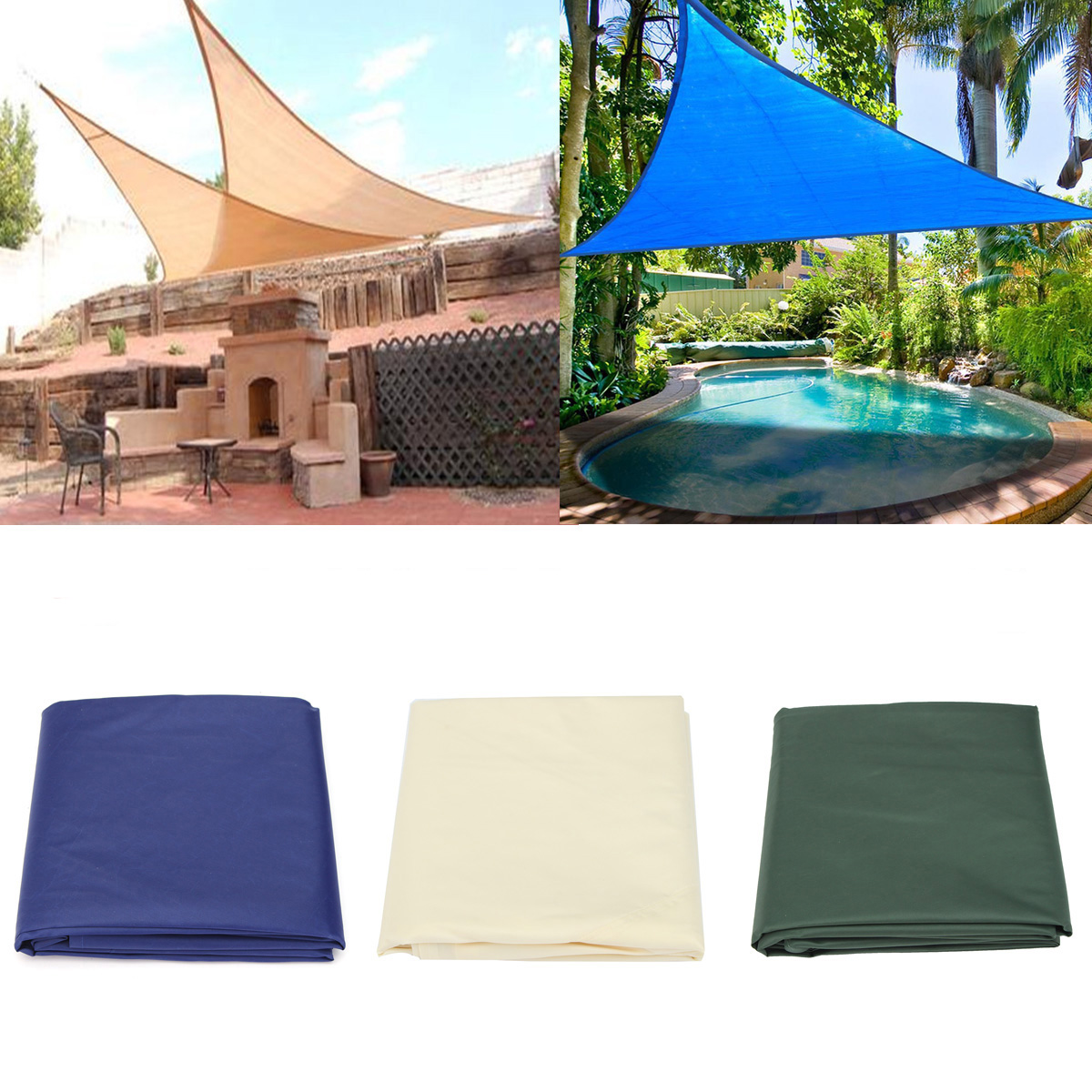 tents ipree sun shade sail anti uv outdoor patio lawn triangle tent. Black Bedroom Furniture Sets. Home Design Ideas