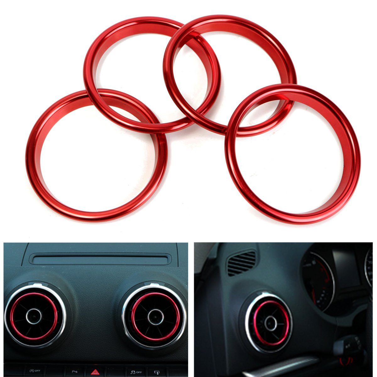 Buy Air Conditioner Outlet Decorative Rings Bright Circle Red For Audi A3