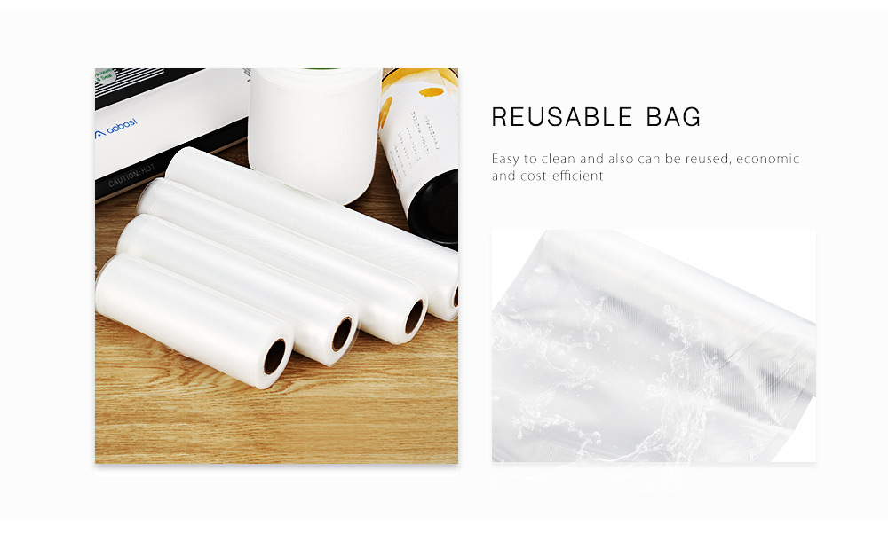 KCASA KC-VB03 28x500cm Vaccum Sealing Bag Roll Food Sealer machine Bag Kitchen Storage Fresh-keeping Bag  Risparmio alimentare generale Borsa