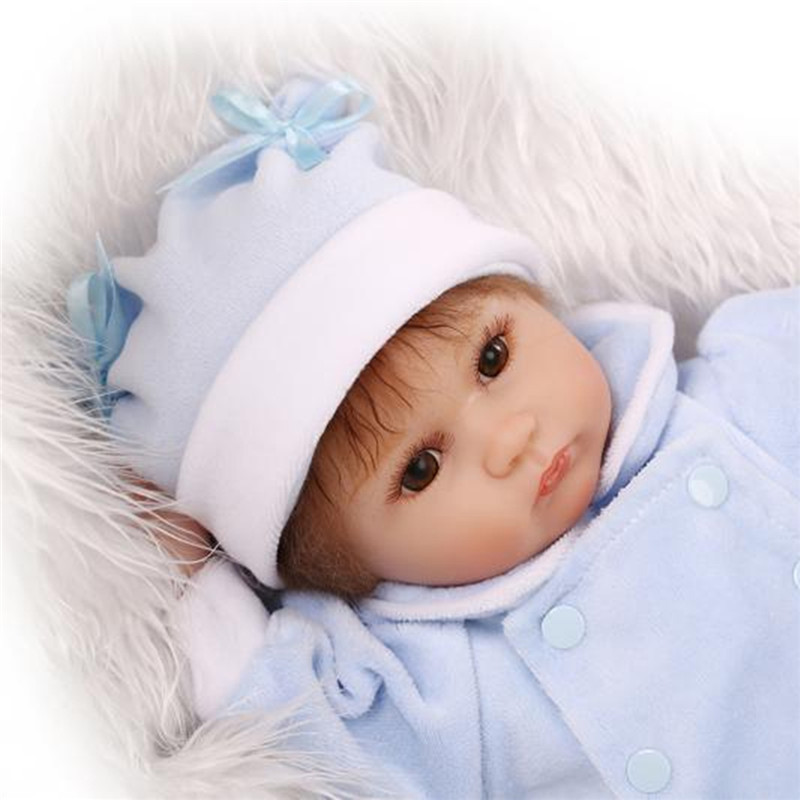 16 inch Reborn Baby DOLL Princess Dress Soft Silicone ...
