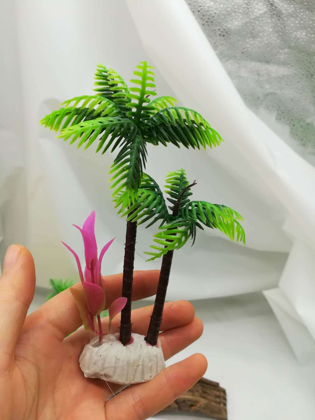 Simulation Water Grass Coconut Tree Large Water Grass Realistic And Beautiful Fish Tank Landscaping Aquarium Decorations