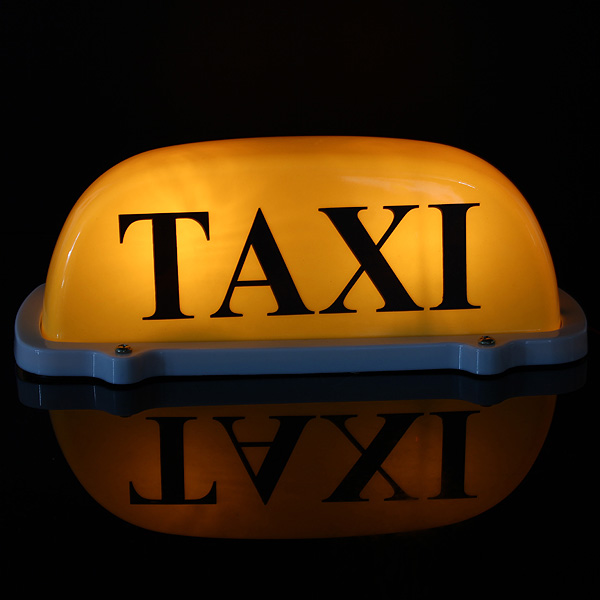 dc12v car taxi cab roof top sign light lamp magnetic. Black Bedroom Furniture Sets. Home Design Ideas
