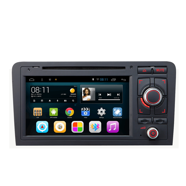 SA-703 Auto-DVD- Musik-MP3- MP4 -Player FM- AUX in kapazitiver Touch Screen Android für AUDI A3 2003-2013