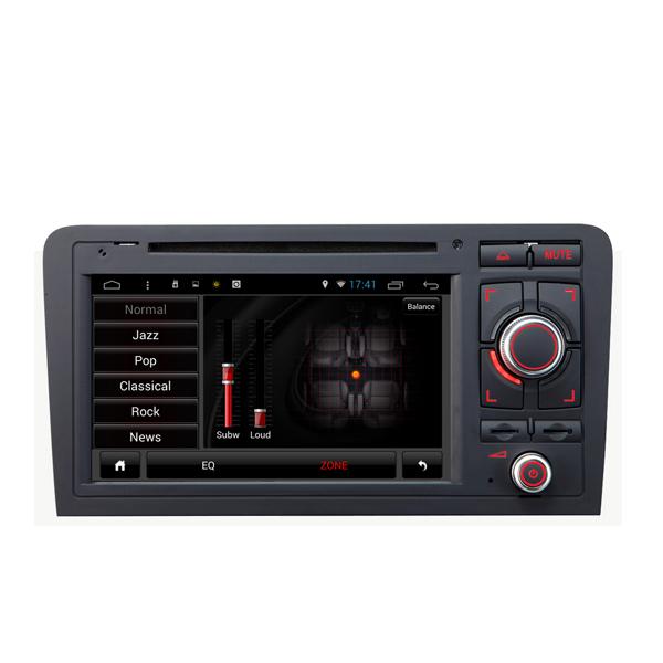 SA-703 DVD del coche aux música mp3 mp4 fm en el androide capacitivo de la pantalla táctil para el audi A3 2003-2013