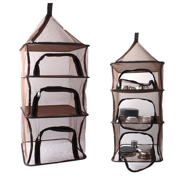 Outdoor Fishing Hanging 4 Layer Storage Basket Hanging