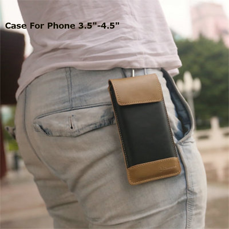 Buy CaseMe Camping Bag Retro PU Leather Wallet Case With Carabiner Hook For Apple iPhone 4 4s 5 5s 5c