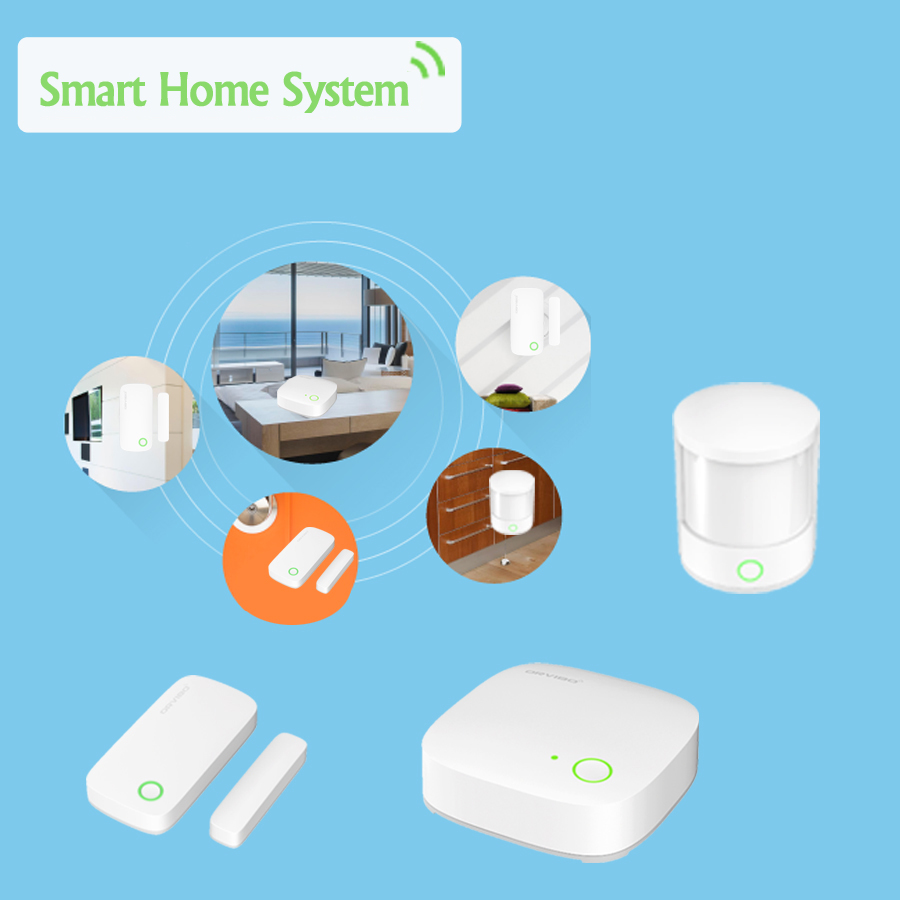 home automation orvibo smart home system kit door window alarm motion pir sensor remote. Black Bedroom Furniture Sets. Home Design Ideas